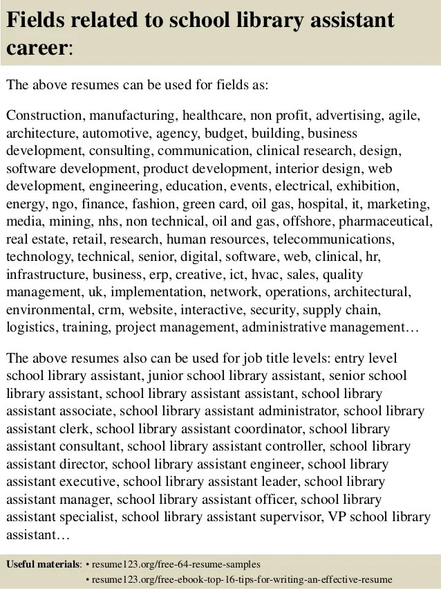 school librarian resume elementary school librarian resume sample