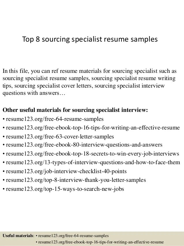 sourcing specialist resume samplesin this file you can ref resume