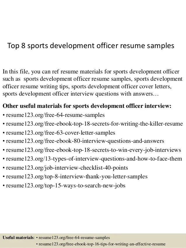related post of resume examples for sports marketing