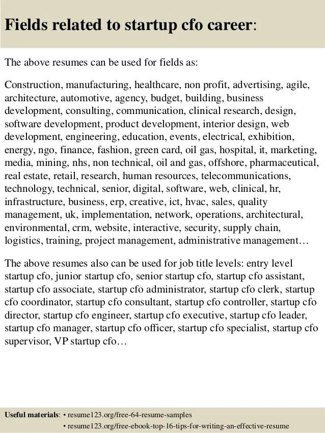 best cfo resumes resume sample resume sample chief financial