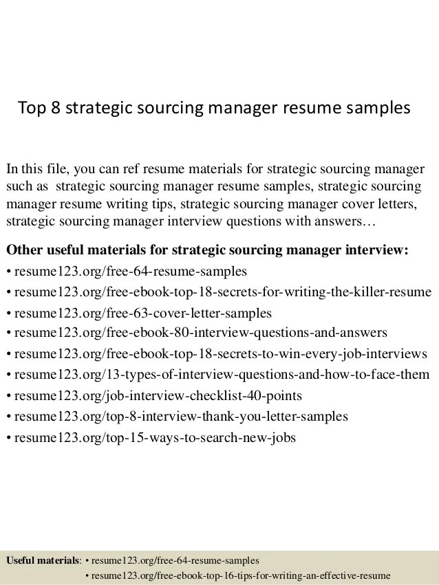 sample resume sourcing resume with logistics quality control top