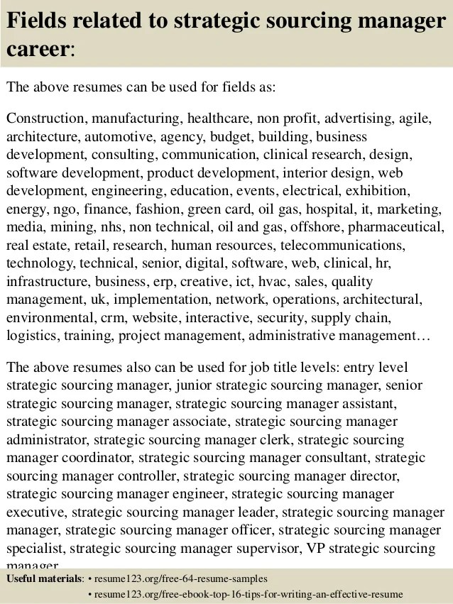 resume global sourcing manager resume sourcing manager free