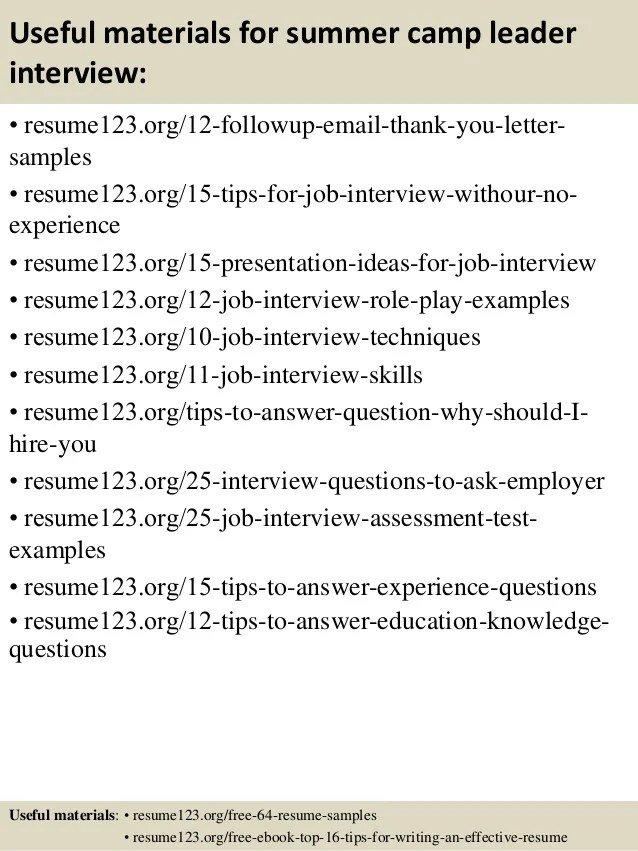 Camp Counselor Resume. Financial Engineer Cover Letter - Day Camp ...