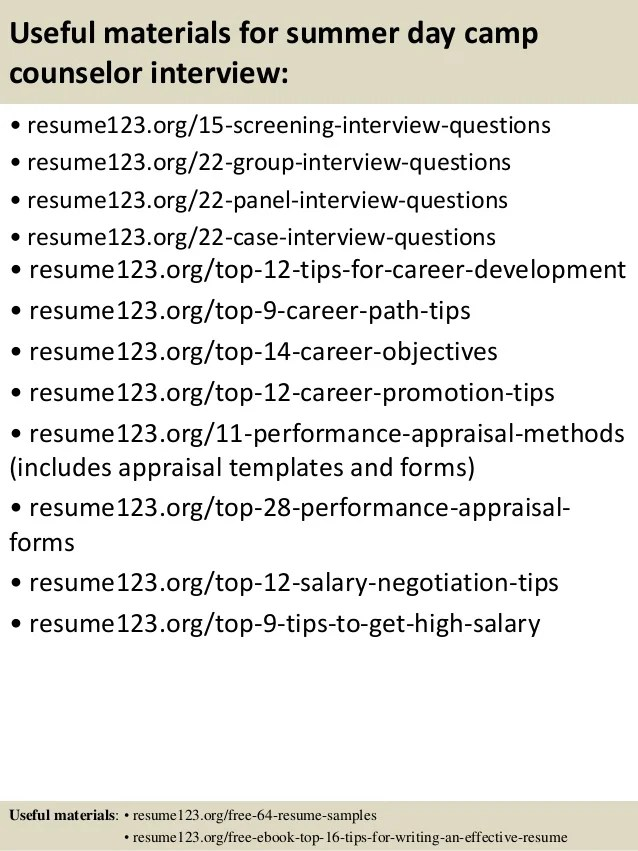 useful materials for summer day interview resume123 org