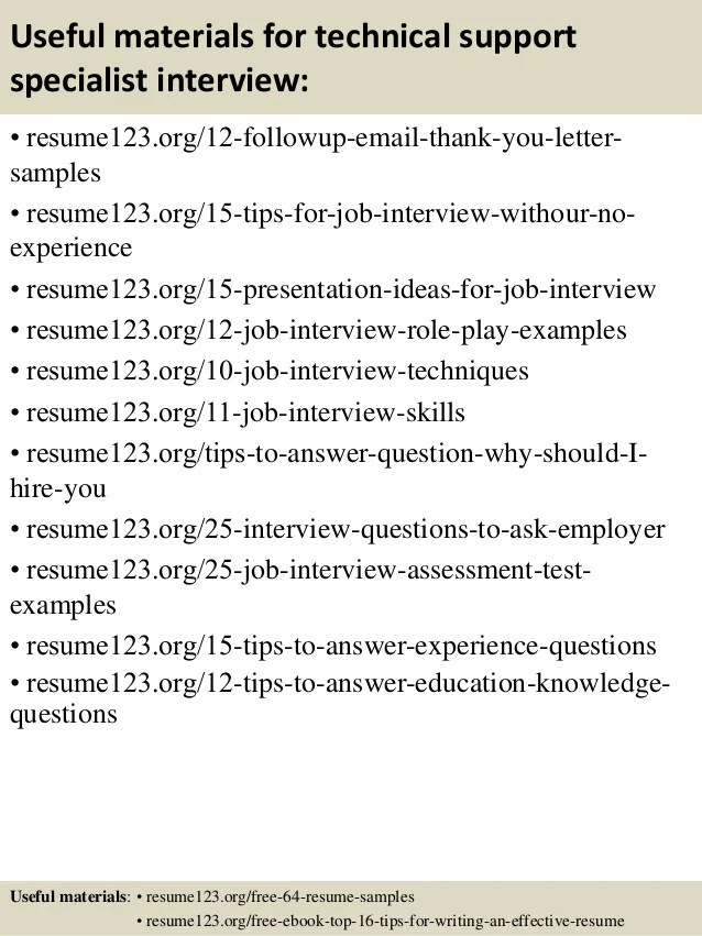 Tech Support Resume Samples, Examples - Download Now.