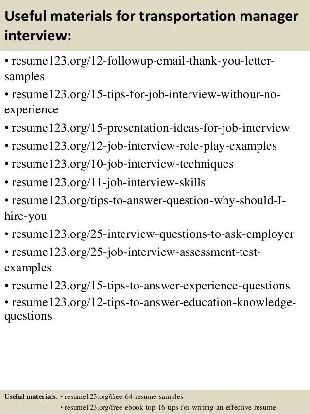 Transportation Resume Examples. 15 Emailing Resume Sample Resume