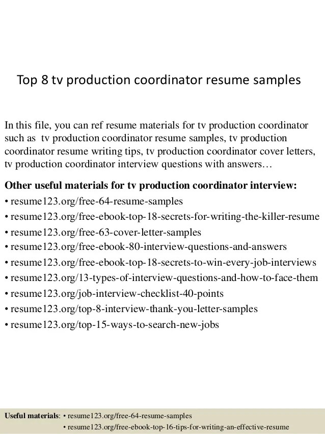 Television Production Assistant Resume Examples Following Is A
