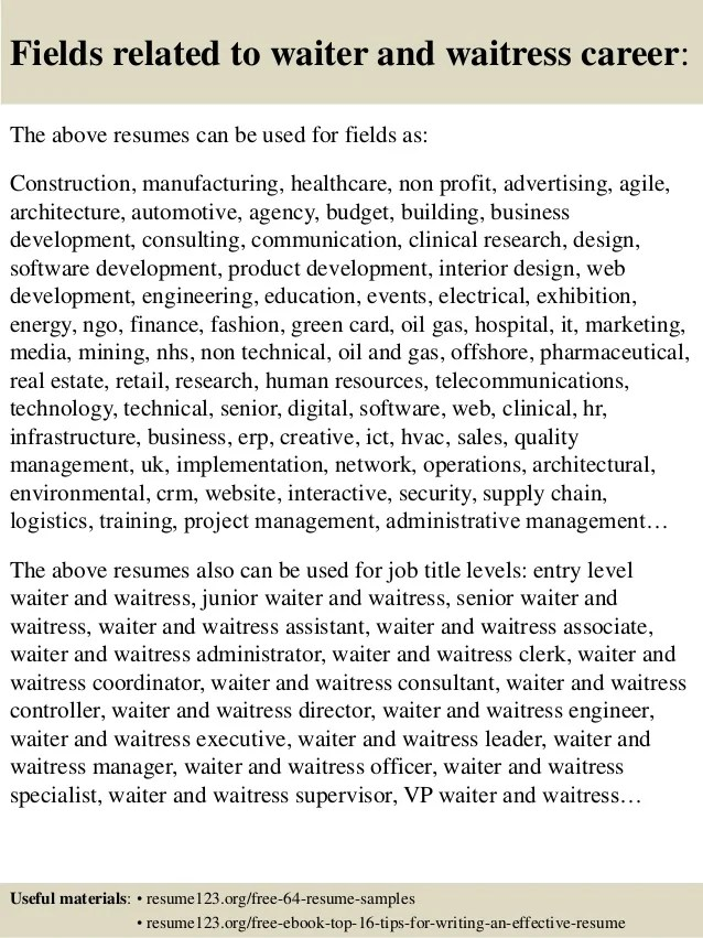 How To Write A Speech  The Muse Waitress Resume Sample Writing