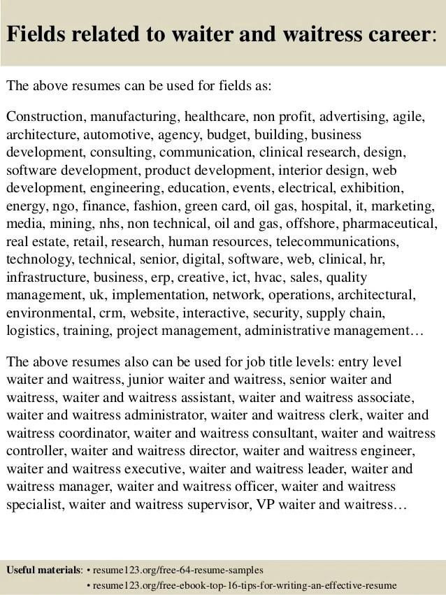 ... Bartender Server Resume Resume. How To Write A Speech The Muse Waitress Resume  Sample Writing