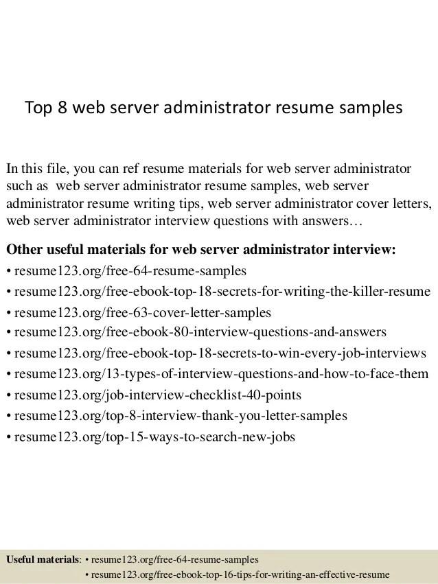 server admin resume wintel amp windows server support profile