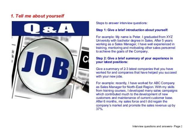 how to answer interview question tell me about yourself