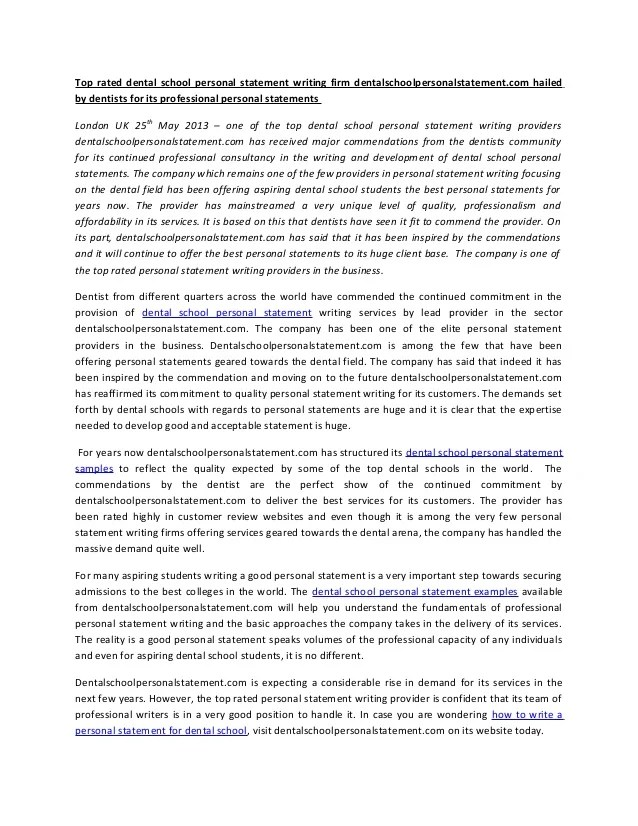 Example of personal statement for newly qualified nursing jobs