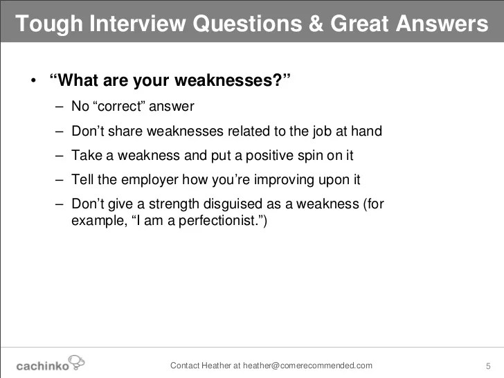 list of weaknesses interview job interview questions what are your ...