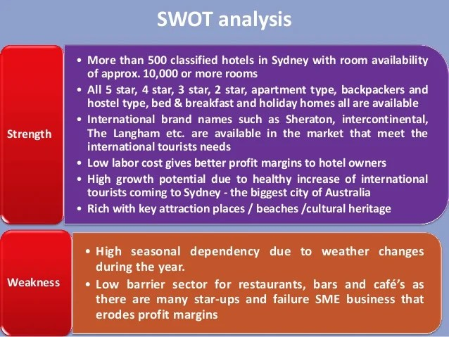 Tourism And Hotel Industry Australia Ppt