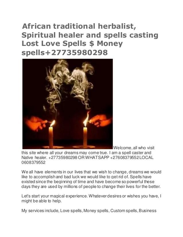 Black Magic Love Spells Witchcraft Spells Protection Spell Money Spells Call 27735980298
