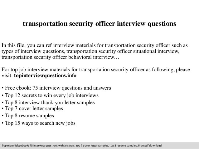 Tsa Officer Sample Resume. project securityofficerresume ...