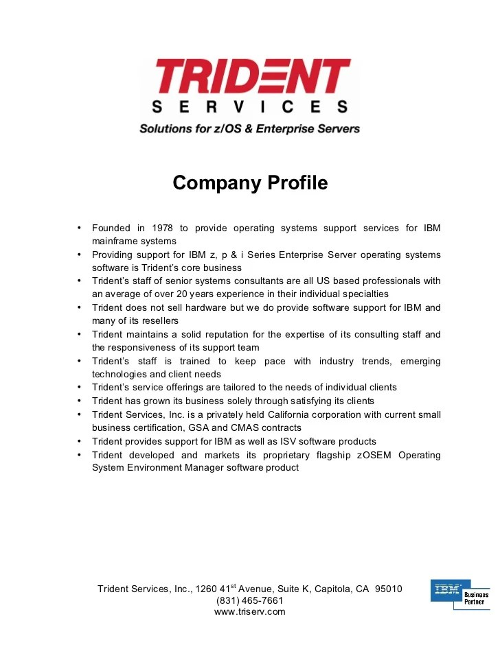 Sample Resume Ict Company Profile Template template word uk ict – Company Profile Template Word Format