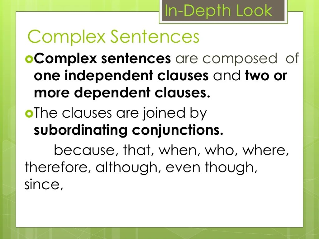 Types Of Sentence According To Structure