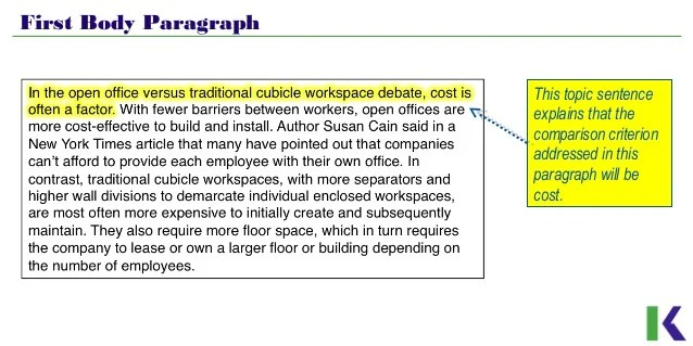 organizational patterns of paragraphs examples