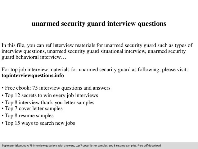 Unarmed Security Guard