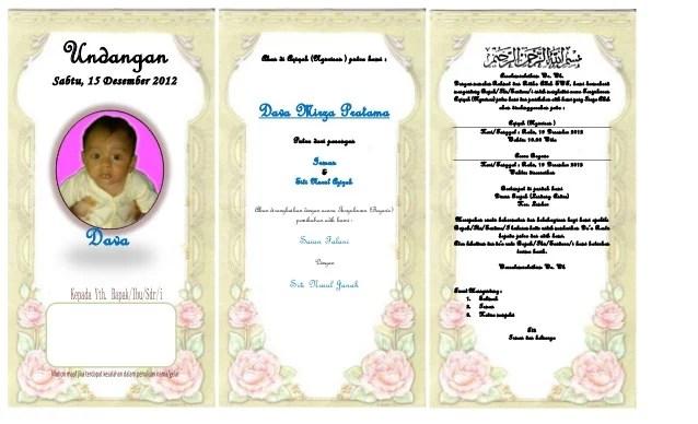 Undangan Pernikahan Dengan Ms Word
