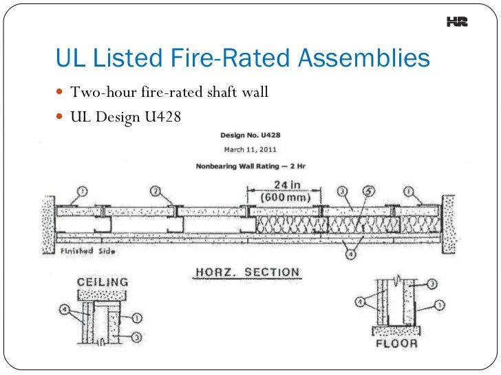 Hour fire rated wood floor ceiling assembly