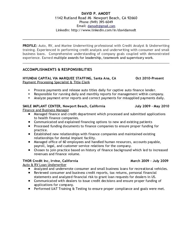 Resume Sales Tax Analyst Junior