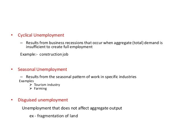 example of disguised unemployment