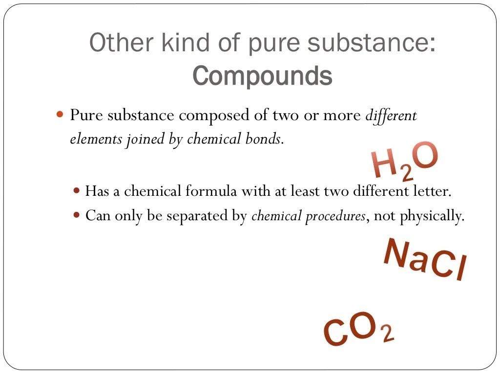 Unit 3 Mixtures And Pure Substances