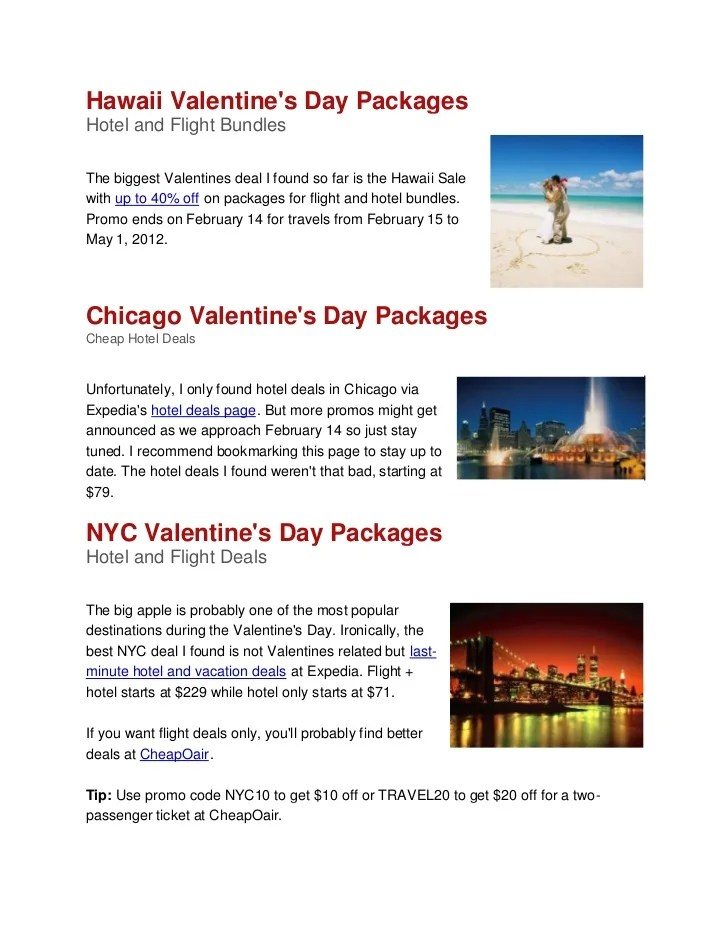 Valentines Day Packages 2012 Atlanta