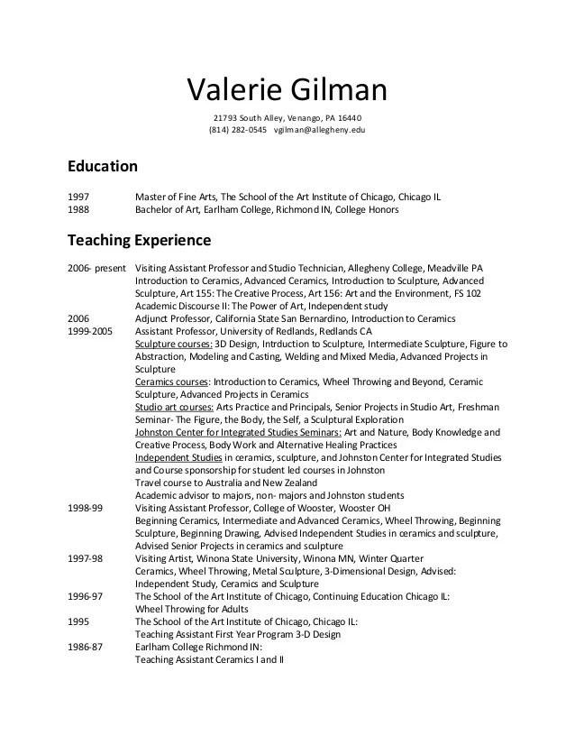 Art Resume Example   Design Director in Fine Arts   Architecture Kmart