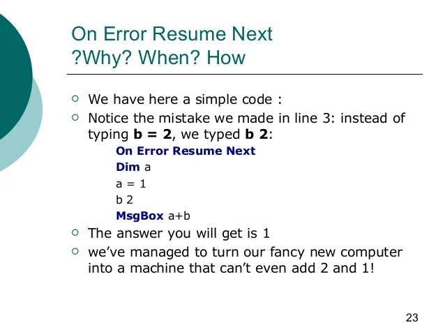 Ms Access Resume Without Error Http Www Gogofinder Com Tw