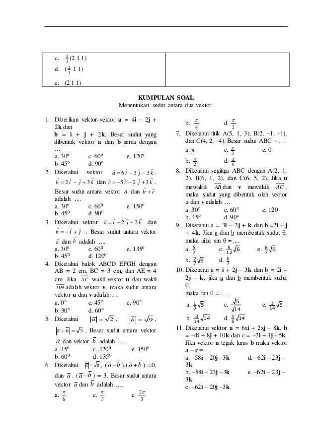 Vektor Matematika Peminatan : vektor, matematika, peminatan, Contoh, Vektor, Matematika, Penyelesaiannya, Kelas, Kumpulan, Pelajaran