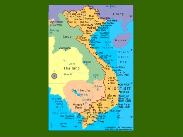 17th Parallel Vietnam Map.Vietnam 17th Parallel Divided Map