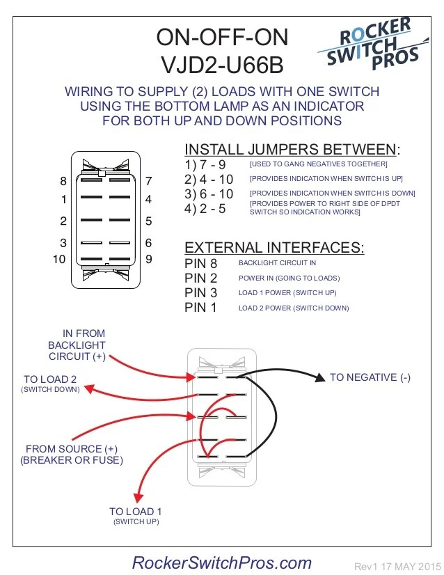 How to wire an ONOFFON switch for both backlighting and