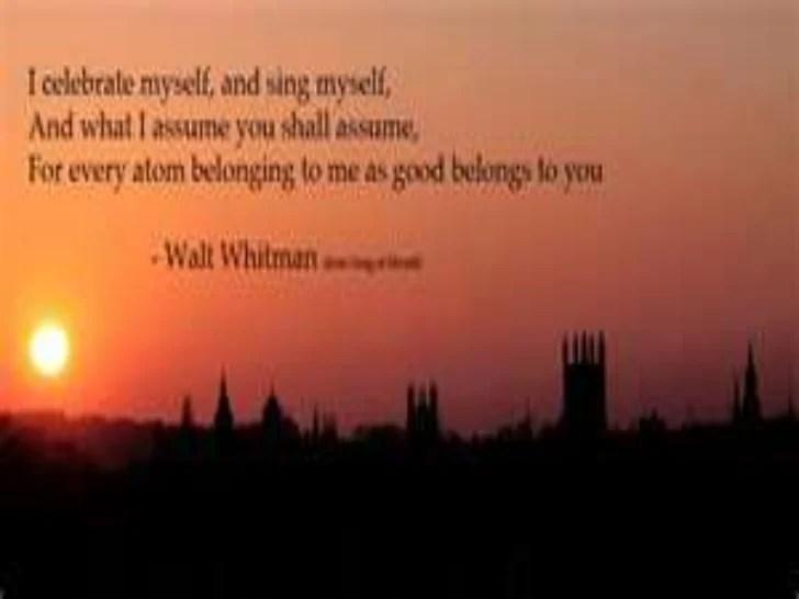 Walt Famous Whitman Poems