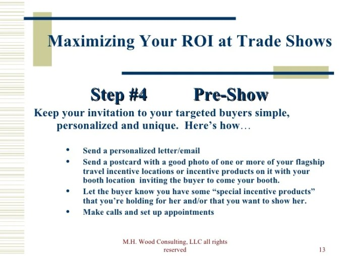 Sample invitation to trade show booth newsinvitation rights reserved 13 maximizing your roi at trade shows stopboris Images