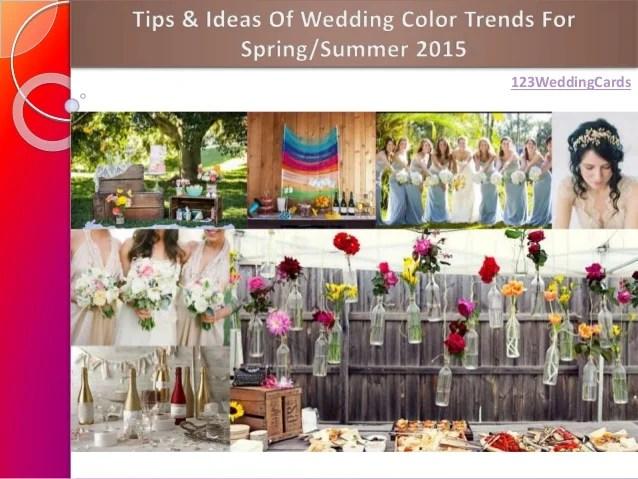 Spring/Summer Wedding Color Ideas 2015
