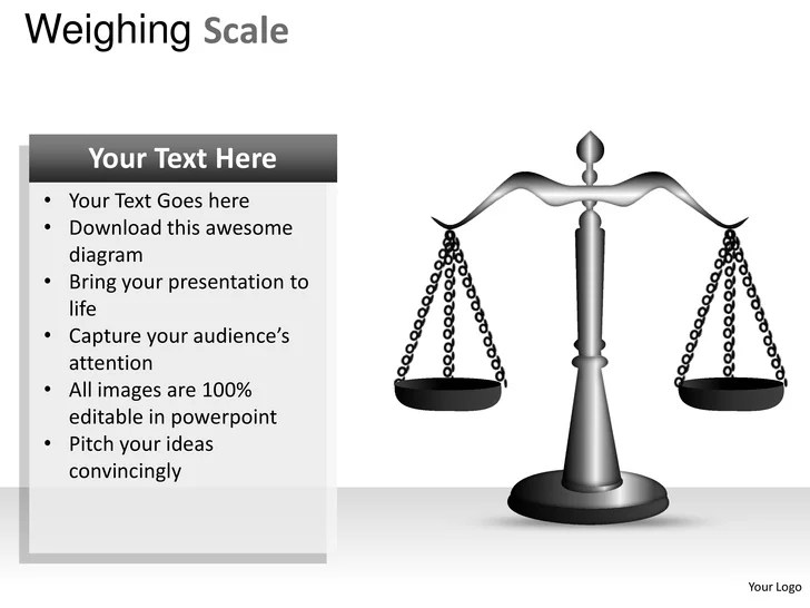 Weighing scale powerpoint presentation templates
