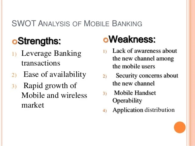 Mobile Security Weaknesses