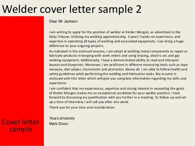 Tig Welder Cover Letter