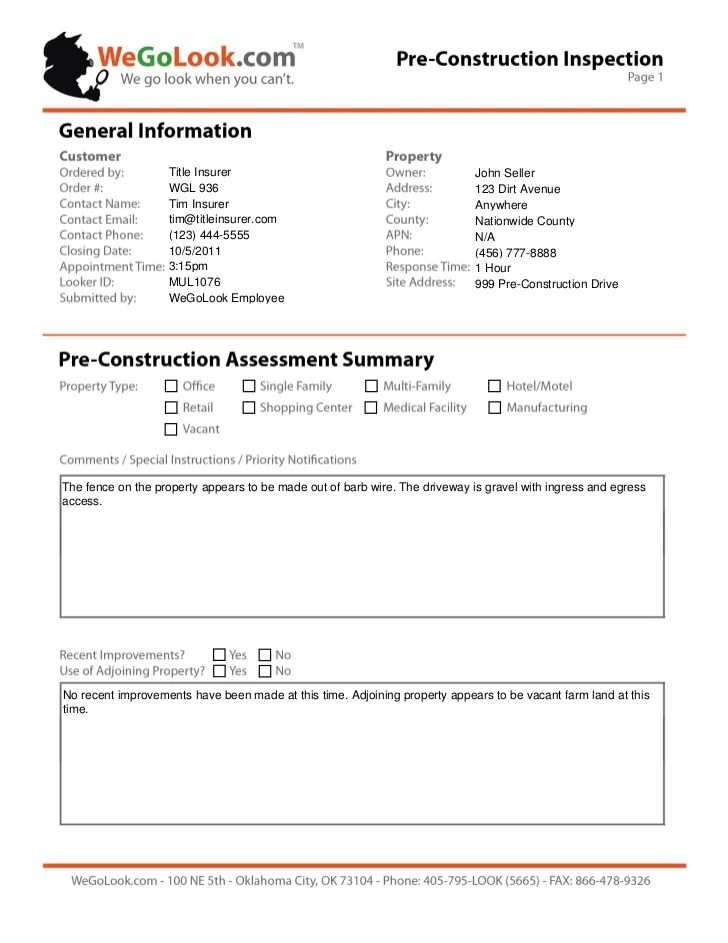 customer visit report – Construction Site Report Template