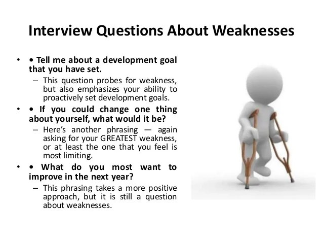 strengths and weakness interview questions