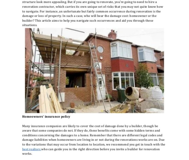 What To Do When Builders Damage Your House During Renovations Home Renovation Is A Basic Need