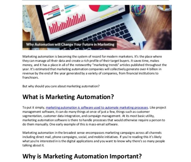 Why Automation Will Change Your Future In Marketing Marketing Automation Is Becoming The System Of Record