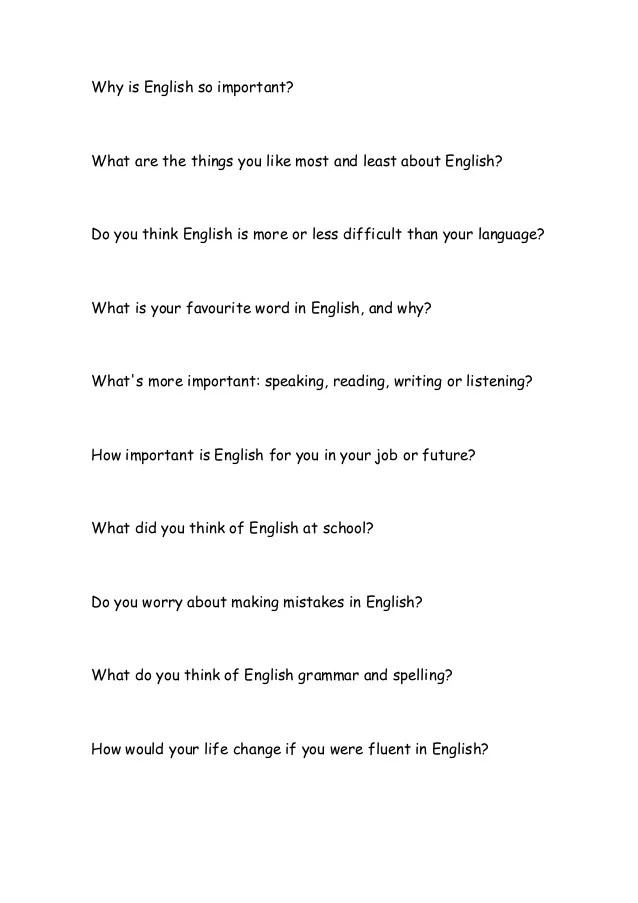 Sample Apa Essay Paper English Short Essay Writing Papers At Our Learning English Essay also Persuasive Essay Thesis Why English Is Important To Me Essay  Best Import  First Day Of High School Essay