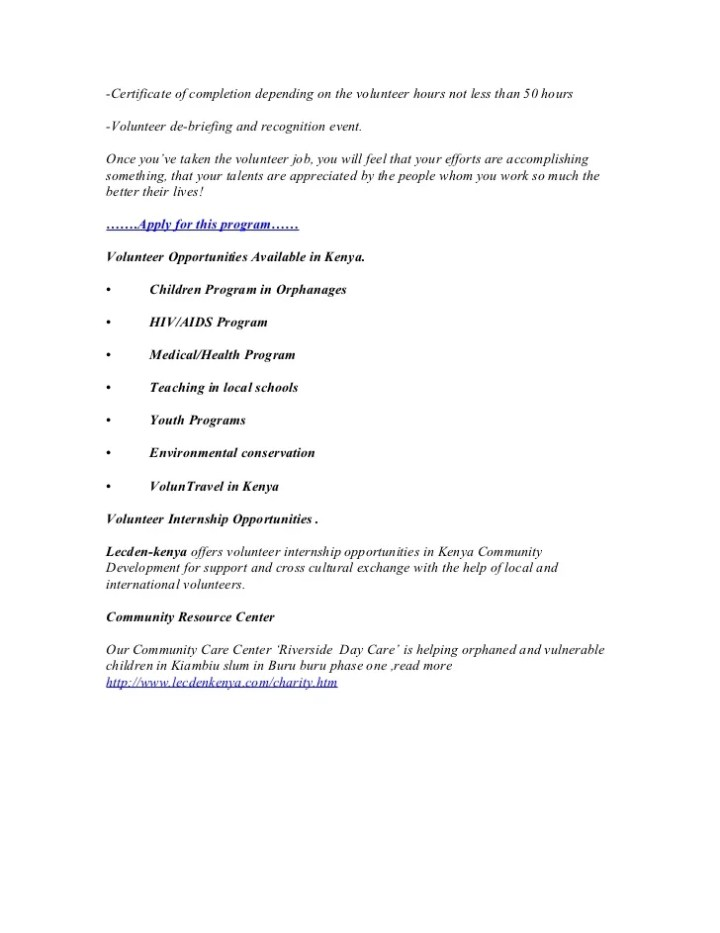 Sample letter for volunteer hours completed docoments ojazlink why volunteer abroad 7 reasons to yelopaper Gallery