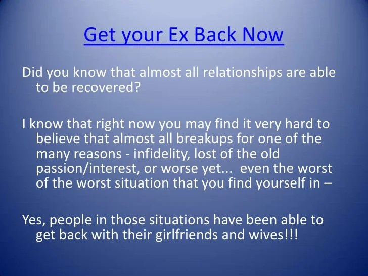 Your Get Heartfelt Back Ex Quotes