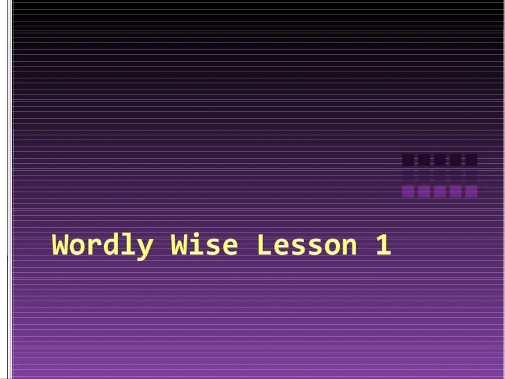 3000 Wise Book 7 Answer Wordly Lesson Key 6