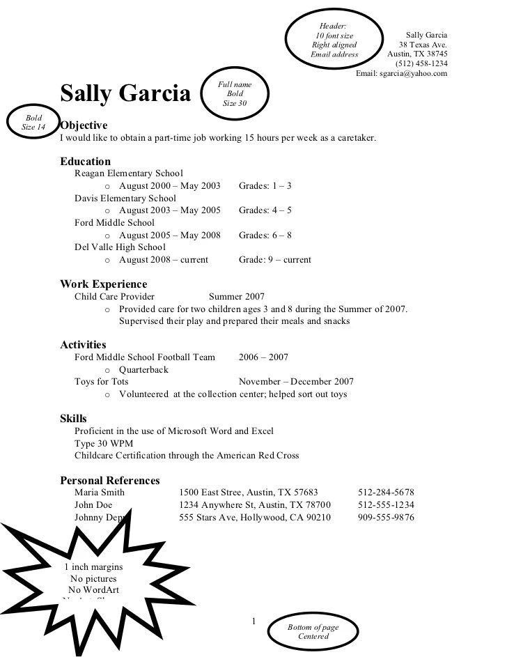 Word Resume Example. Word Resume Templates 7 Samples Examples